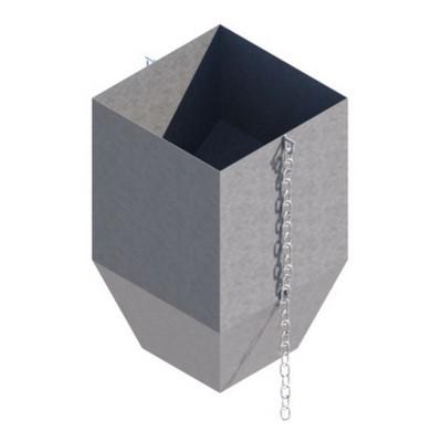 Гаситель скорости металлический мусоросброса