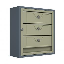 Ящик почтовый антивандальный ЯПА-3 (серый)