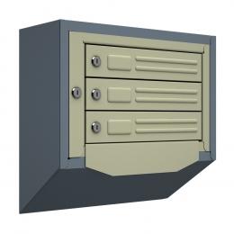 Ящик почтовый антивандальный со скосом ЯПА-3 (серый)