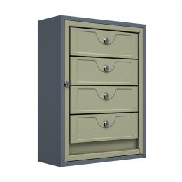 Ящик почтовый антивандальный ЯПА-4 (серый)
