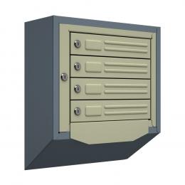 Ящик почтовый антивандальный со скосом ЯПА-4 (серый)