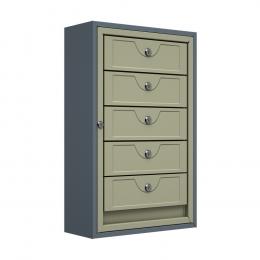 Ящик почтовый антивандальный ЯПА-5 (серый)