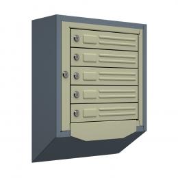 Ящик почтовый антивандальный со скосом ЯПА-5 (серый)