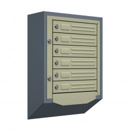 Ящик почтовый антивандальный со скосом ЯПА-6 (серый)