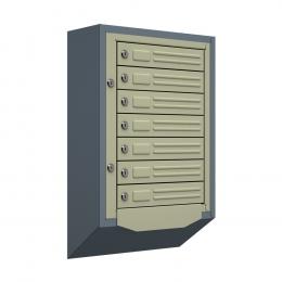 Ящик почтовый антивандальный со скосом ЯПА-7 (серый)