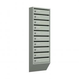 Ящик почтовый узкий ЯПУ-10 (серый)