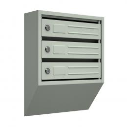 Ящик почтовый узкий ЯПУ-3 (серый)