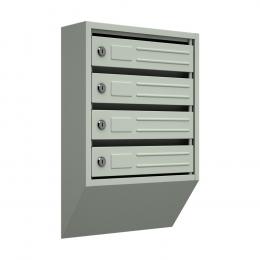 Ящик почтовый узкий ЯПУ-4 (серый)