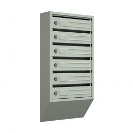 Ящик почтовый узкий ЯПУ-6 (серый)