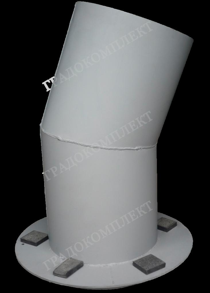 Патрубок шибера с опорным фланцем