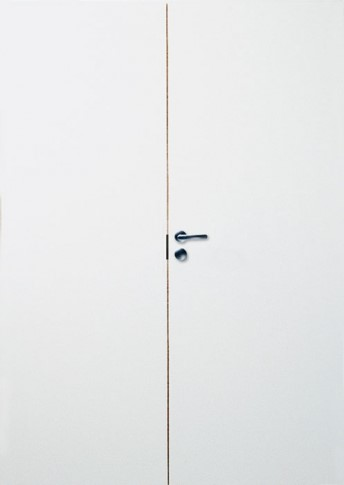 2-х створчатая дверь гладкая PRO 2/2 белая