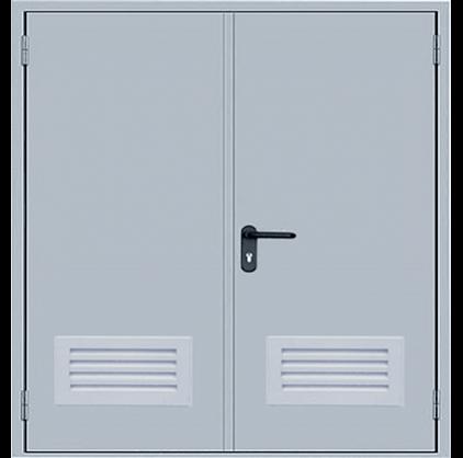 ДПМ-2 EI 60 дверь противопожарная двупольная с решеткой