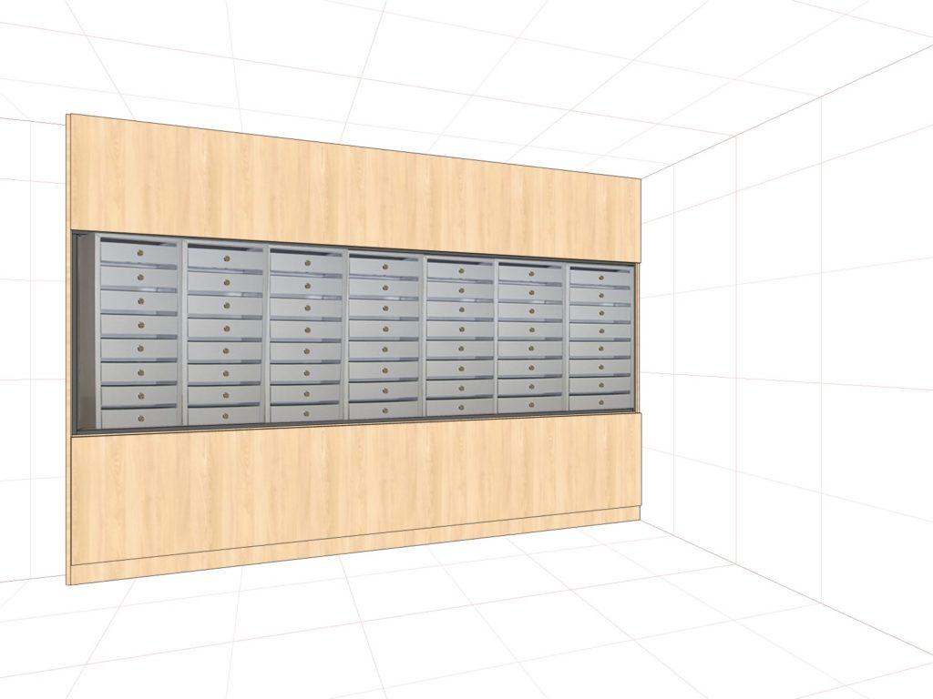 Шкафы под почтовые ящики (оклад ЛДСП Egger )