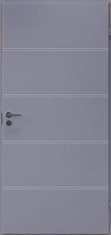 Гладкая дверь усиленная F400 серая RAL 7040