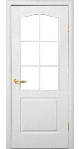 Дверь мазонитовая грунтованная под покраску с остеклением