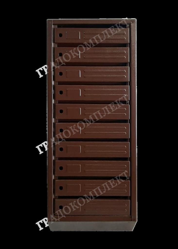 Ящик почтовый ЯПУ шагрень темно-коричневый RAL 9005